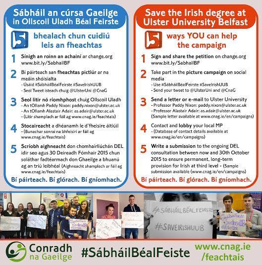 Feachtas cúig phointe Chonradh na Gaeilge